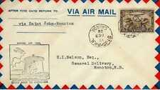 CANADA 1ers vols first flights airmail 40