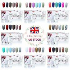 ELITE99 6 Colors Soak Off Gel Nail Polish Manicure Set Lacquer Varnish Nail Art