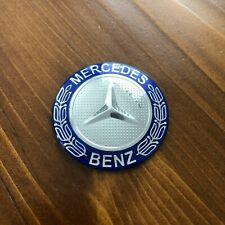"New - Mercedes-Benz™ M-B Steering Wheel Chrome Blue Star Emblem Badge 2"" 52mm"