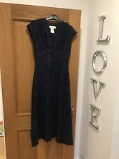 Women's PAUL & JOE Navy Blue Floral Jacquard Print Maxi Dress Size 38 Worn Once