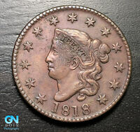 1818 Coronet Head Large Cent   --  MAKE US AN OFFER!  #B3905