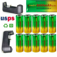 10pcs 3.7V 26650 Batteries Rechargeable Li-ion Battery For Torch Flashlight USA*