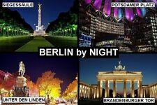 SOUVENIR FRIDGE MAGNET of BERLIN BY NIGHT