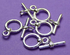 7.5mm Ring with 11mm Bar 925 Sterling Silver Toggle clasp 2pcs 1 set