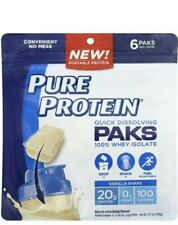 Pure Protein Quick Dissolving Paks 100% Whey Isolate Vanilla Shake 20g Protein