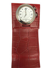 Montblanc Travel Alarm Watch Leather Red Case