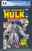Incredible Hulk 1 (Marvel) CGC 9.8 White Pages Facsimile Edition Reprint