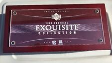 2005 Upper Deck EXQUISITE Football Empty Cherry WOOD Box NFL Aaron Rodgers RC