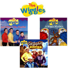 THE WIGGLES  Wiggly Mystery, Spend Day Together,Cold Spaghetti Western (pb) 3Bks