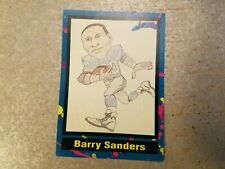 Barry Sanders Detroit Lions Cartoon Tuff Stuff Jr RARE ODDBALL