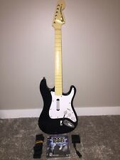 PlayStation PS3 PS2 Fender Stratocaster Guitar Control & DONGLE & Rock Band Game