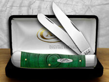 CASE XX Smooth Green Bone Tree Rings 1/500 Trapper ###2 Pocket Knives