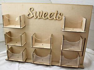 A316 SWEET WALL CANDY DISPLAY candy bar birthday wedding party table shelf decor