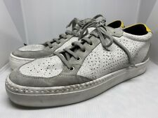 P448 Men's Sneakers Lovelow White Crack Size 11.5-12 White Grey Suede MSRP $275