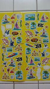 1 gr. Aufkleber-Bogen (sticker) aus Zeitschrift  -Urlaub-