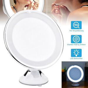 10x 360 Rotary Magnifying Magnification Makeup Mirror Lighting LED Fill Light