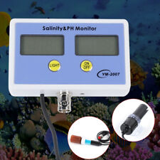 2 in1 Digital Salinity and PH Meter Water Quality Monitor Test pH for Aquarium