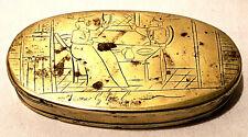 Antike Tabatiere Tabakdose Messing 17. / 18. Jahrhundert