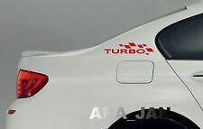TURBO Flag Decal Sticker Sport Racing Car logo auto Performance Motorsport PAIR