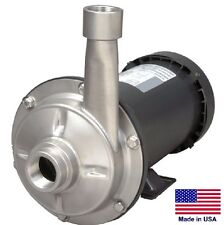 """STRAIGHT CENTRIFUGAL PUMP - 7200 GPH - 3 Hp - 230/460V - 1.5"""" In / 1.25"""" Out"""