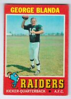 1971 Topps #39 George Blanda Oakland Raiders EXCELLENT+ cond. pack fresh #a