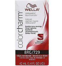 Wella Color Charm Liquid Haircolor 729/8RG Titian Red Blonde, 1.4 oz