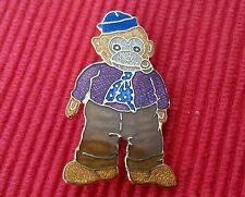 Peter fagan victorian mini monkey/ teddy bear brooch.enamel & 22 ct gold plate