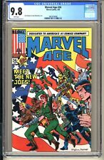 Marvel Age #34  CGC 9.8 WP NM/MT  Marvel Comics 1985 1st Preview New G.I. JOES