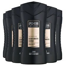 Axe Signature Cedar Smooth Body & Hair Wash Shower Gel 250ml x 6