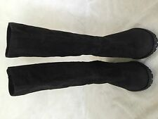 Peter Kaiser Black Knee high Soft Swede Boot Size 4/12