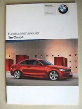 VENDEUR MANUEL BMW 1 Coupé E82 135i 120d 123d Modèle 2007 2008 Allemand