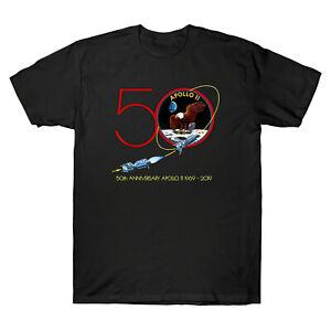 Apollo 11 50th Anniversary Moon Landing 1969 2019 Vintage Men's Black T Shirt