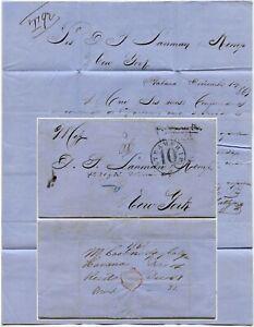 1863 CUNARD STEAMSHIP CORSICA LETTER HAVANA MEDICAL to KEMP
