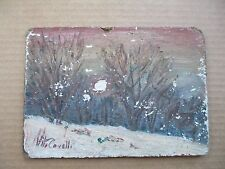 """Vito Covelli   Oil Painting - ON BOARD   7""""  x  5""""  with info on back"""