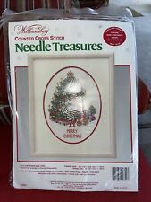 1987 Colonial Williamsburg Folk Art Christmas Tree Counted Cross Stitch Kit NEW