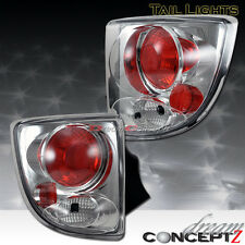 2000-2005 TOYOTA CELICA GT GTS TAIL LIGHTS LAMPS CHROME HOUSING CLEAR LENS PAIR