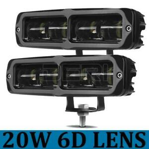 Pair 6inch Cree LED Work Light Bar Driving Beam Lamp Reverse Offroad 4x4 6D Lens