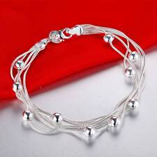 Stunning 925 Sterling Silver Bead High Polished Gorgeous Ball Bracelet