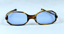 VINTAGE OCTAGON SUNGLASSES FRANCE MID CENTURY 50'S 1950'S BLUE LENSES NOS UNUSED