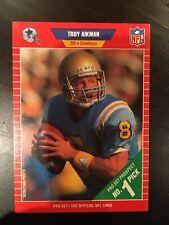 1989 TROY AIKMAN - Pro Set ROOKIE Football Card - #490  - Lot Of 10 Mint