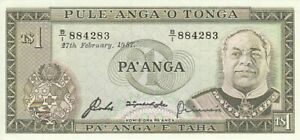 Tonga 1 Pa'Anga 1987 Checkout Fresh