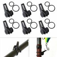 Fishing Rod hole Hook New 1 Set Keeper Lure Spoon Bait Holder Tackle Accessories