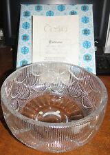 "VINTAGE Ceska Crystal Scallop pattern  9"" Serving Bowl w/box - by Zahour MINT!!"