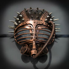 Steampunk Masquerade Mask Spiky Rivet & Tube Gas Face Mask Copper M39108