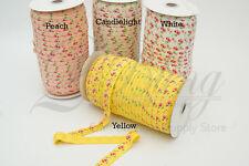 8m Floral Print elastic FOE MIX ASSORTED PACK DIY Baby Headband Kit craft supply