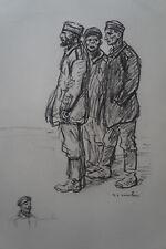 "STEINLEN (1859/1923) Litho 14/18 - "" PRISONNIERS ALLEMANDS ""  Signé"