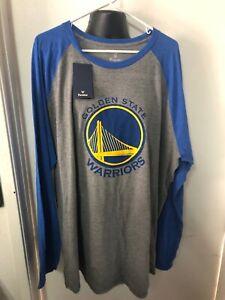 Golden State Warriors Men's 3XL Long Sleeve Shirt Fanatics Nba Basketball New