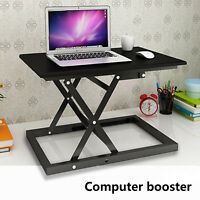 Adjustable Height Stand Up Desk Computer Workstation Lift Monitor Riser Laptop