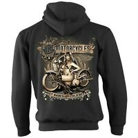 Biker Zip Hoodie Hoody Jacket Old Classic Motorcycle Motorbike Bobber Chopper 42