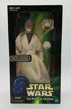 "Star Wars Power Of The Force Obi-Wan Kenobi with Glow Lightsaber 12"" Figure NIB"